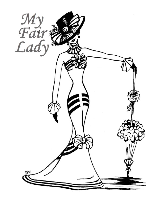 My Fair Lady - Drawing by Sue Vivian